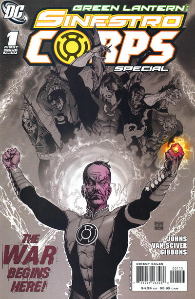 Cover for Green Lantern Sinestro Corps Special (DC, 2007 series) #1 [Second Printing]