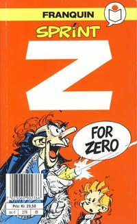 Cover Thumbnail for Sprint [Semic Tegneseriepocket] (Semic, 1990 series) #1 - Z for Zero