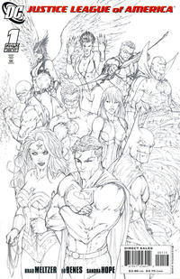 Cover Thumbnail for Justice League of America (DC, 2006 series) #1 [Third Printing Variant Sketch Cover]