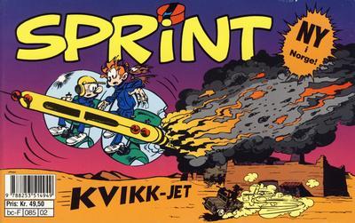 Cover for Sprint [tverrbok] (Semic, 1992 series) #2 - Kvikk-jet