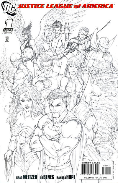 Cover for Justice League of America (DC, 2006 series) #1 [Cover A]