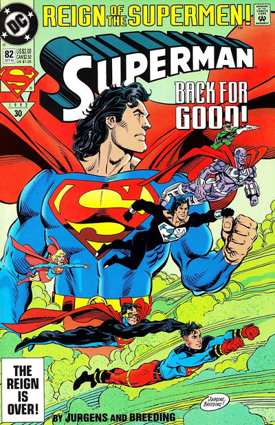 Cover for Superman (DC, 1987 series) #82 [Standard Edition - Direct]