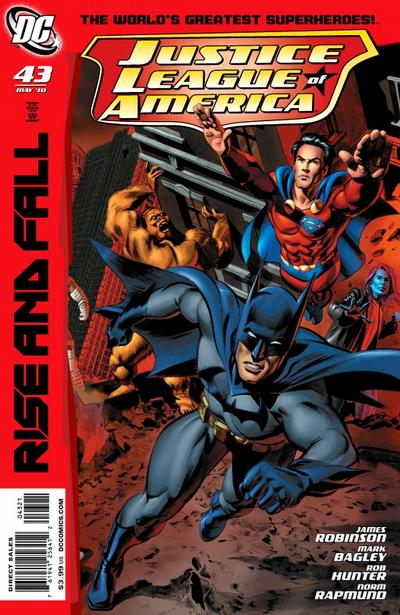 Cover for Justice League of America (DC, 2006 series) #43 [Mike Manley Variant Cover]