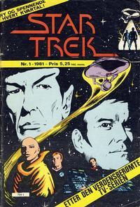 Cover Thumbnail for Star Trek (Atlantic Forlag, 1981 series) #1/1981