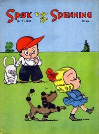 Cover Thumbnail for Spøk og Spenning (Oddvar Larsen; Odvar Lamer, 1950 series) #7/1950