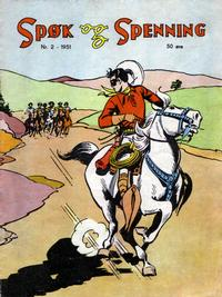 Cover for Spøk og Spenning (Oddvar Larsen; Odvar Lamer, 1950 series) #2/1951