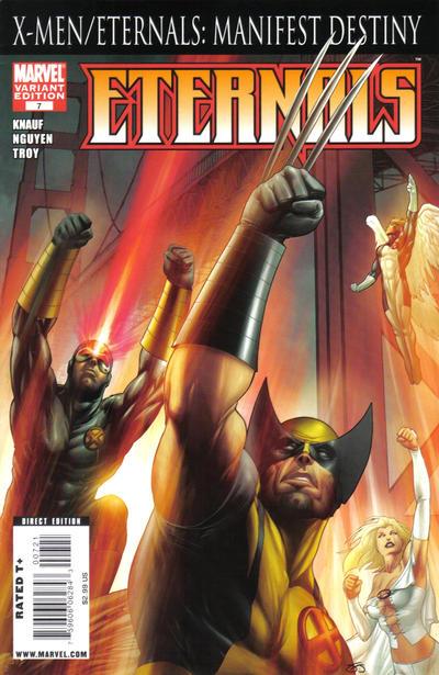 Cover for Eternals (Marvel, 2008 series) #7