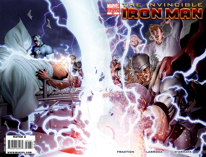 Cover for Invincible Iron Man (Marvel, 2008 series) #21 [Variant Edition]