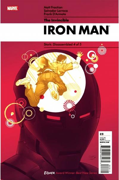 Cover for Invincible Iron Man (Marvel, 2008 series) #23 [Second Printing]