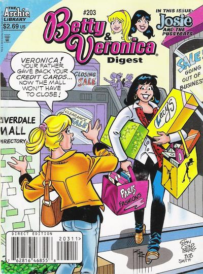 Cover for Betty and Veronica Comics Digest Magazine (Archie, 1983 series) #203