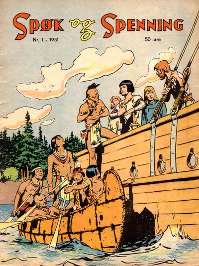 Cover for Spøk og Spenning (Oddvar Larsen; Odvar Lamer, 1950 series) #1/1951