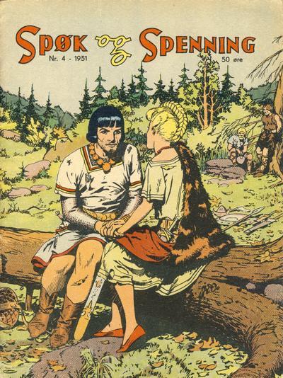 Cover for Spøk og Spenning (Oddvar Larsen; Odvar Lamer, 1950 series) #4/1951