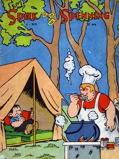 Cover for Spøk og Spenning (Oddvar Larsen; Odvar Lamer, 1950 series) #6/1951