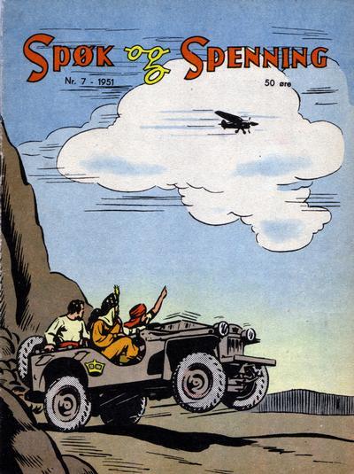 Cover for Spøk og Spenning (Oddvar Larsen; Odvar Lamer, 1950 series) #7/1951