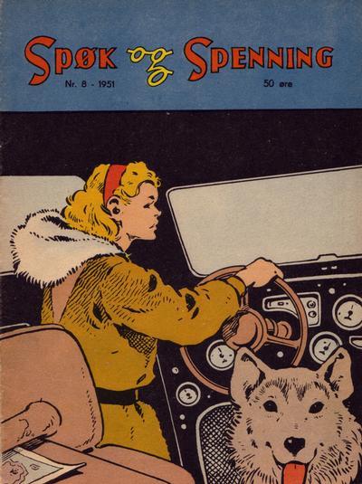 Cover for Spøk og Spenning (Oddvar Larsen; Odvar Lamer, 1950 series) #8/1951