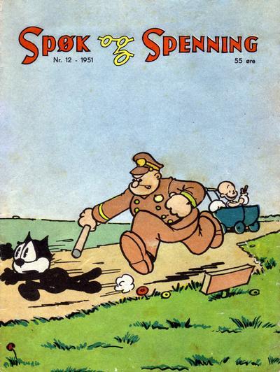 Cover for Spøk og Spenning (Oddvar Larsen; Odvar Lamer, 1950 series) #12/1951
