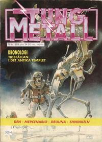 Cover Thumbnail for Tung metall (Epix, 1986 series) #6/1989 [39] [34]