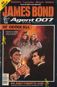 Cover Thumbnail for James Bond (Semic, 1965 series) #10/1987