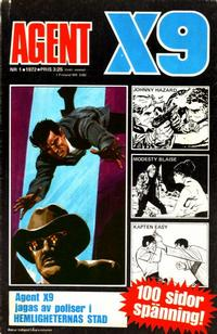 Cover Thumbnail for Agent X9 (Semic, 1971 series) #1/1972