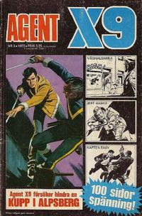 Cover Thumbnail for Agent X9 (Semic, 1971 series) #3/1972