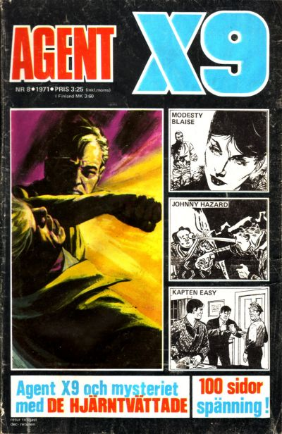 Cover for Agent X9 (Semic, 1971 series) #8/1971