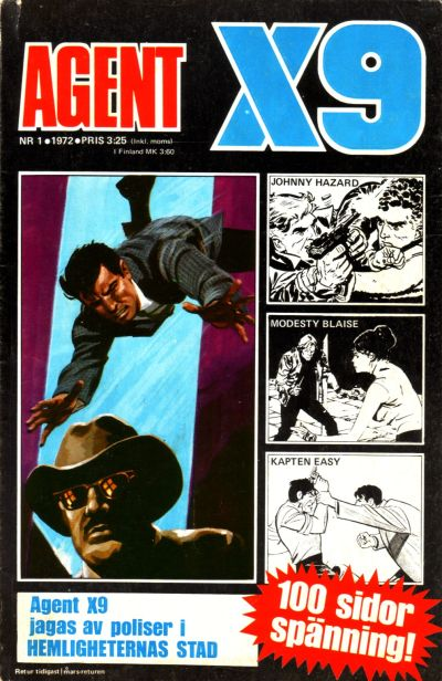 Cover for Agent X9 (Semic, 1971 series) #1/1972