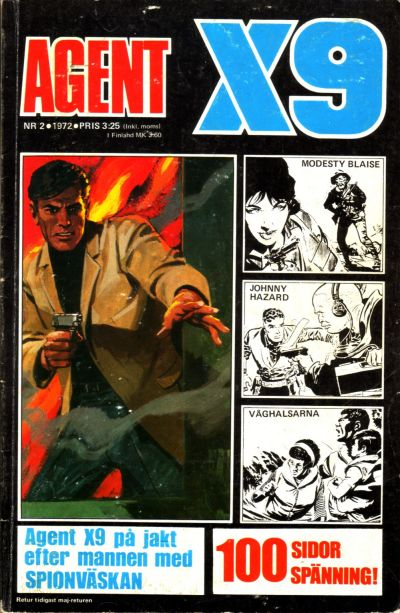 Cover for Agent X9 (Semic, 1971 series) #2/1972