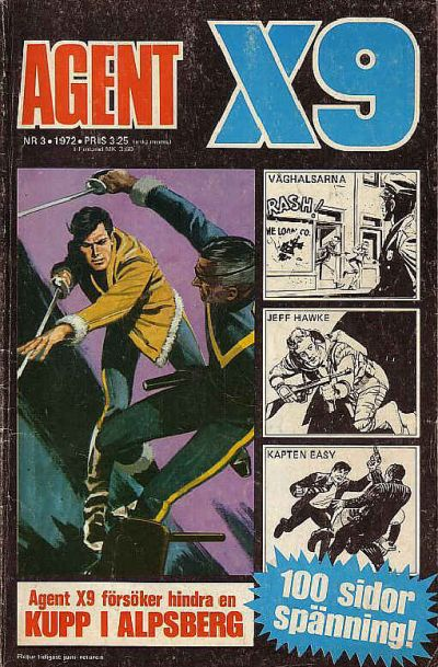 Cover for Agent X9 (Semic, 1971 series) #3/1972