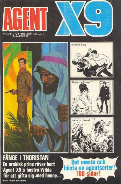 Cover for Agent X9 (Semic, 1971 series) #6/1972