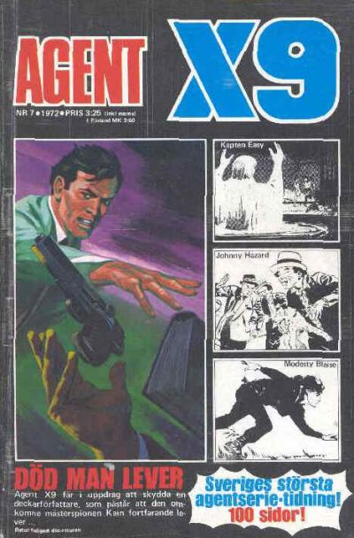 Cover for Agent X9 (Semic, 1971 series) #7/1972