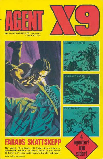 Cover for Agent X9 (Semic, 1971 series) #7/1973