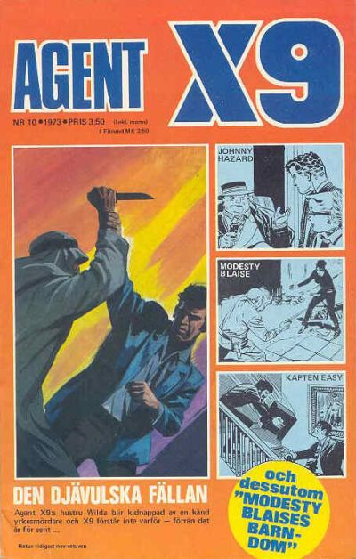 Cover for Agent X9 (Semic, 1971 series) #10/1973