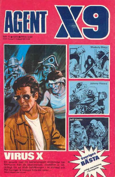 Cover for Agent X9 (Semic, 1971 series) #11/1973