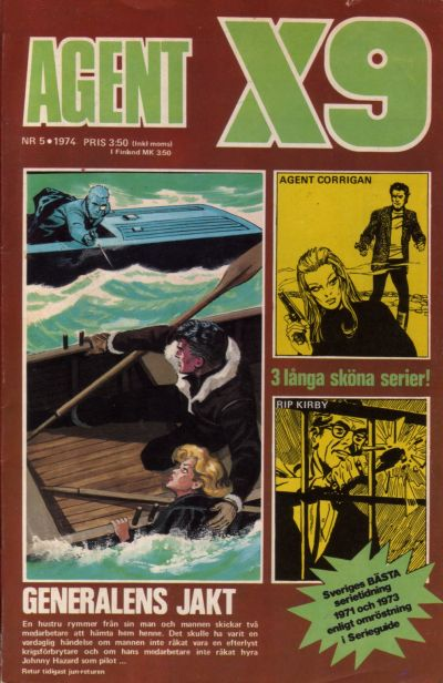Cover for Agent X9 (Semic, 1971 series) #5/1974