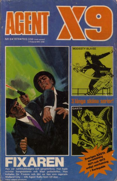 Cover for Agent X9 (Semic, 1971 series) #6/1974