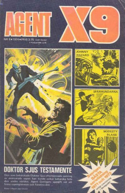 Cover for Agent X9 (Semic, 1971 series) #8/1974