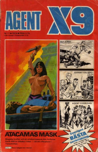 Cover for Agent X9 (Semic, 1971 series) #11/1974