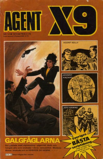 Cover for Agent X9 (Semic, 1971 series) #12/1974