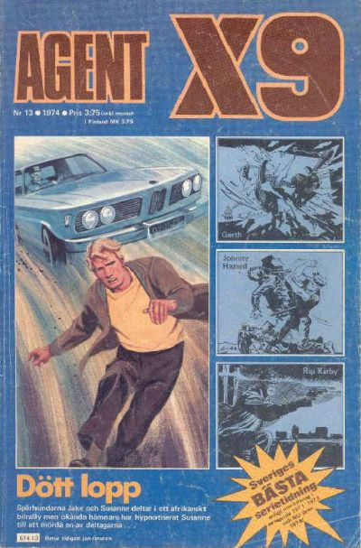 Cover for Agent X9 (Semic, 1971 series) #13/1974