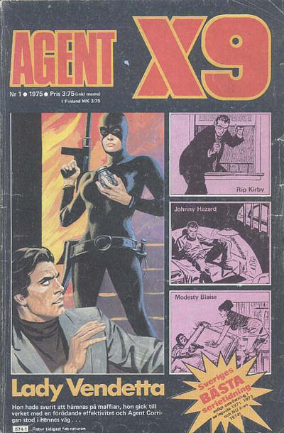 Cover for Agent X9 (Semic, 1971 series) #1/1975