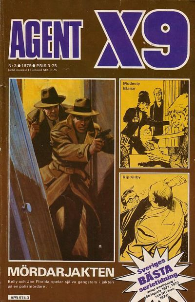 Cover for Agent X9 (Semic, 1971 series) #3/1975