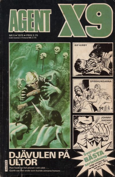 Cover for Agent X9 (Semic, 1971 series) #5/1975