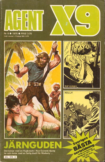Cover for Agent X9 (Semic, 1971 series) #6/1975