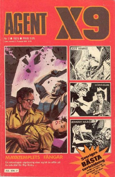 Cover for Agent X9 (Semic, 1971 series) #7/1975