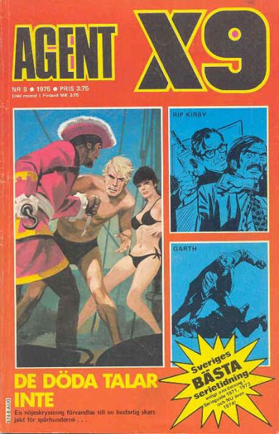 Cover for Agent X9 (Semic, 1971 series) #8/1975
