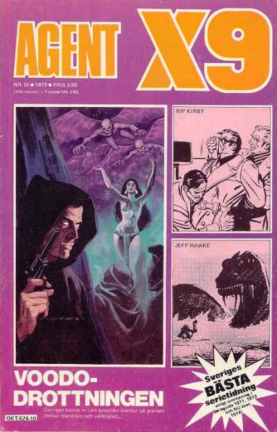 Cover for Agent X9 (Semic, 1971 series) #10/1975