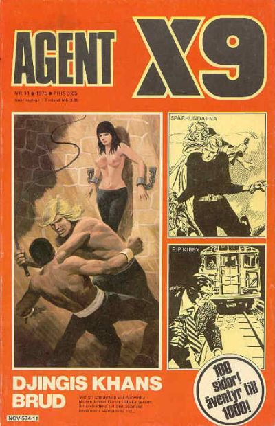 Cover for Agent X9 (Semic, 1971 series) #11/1975