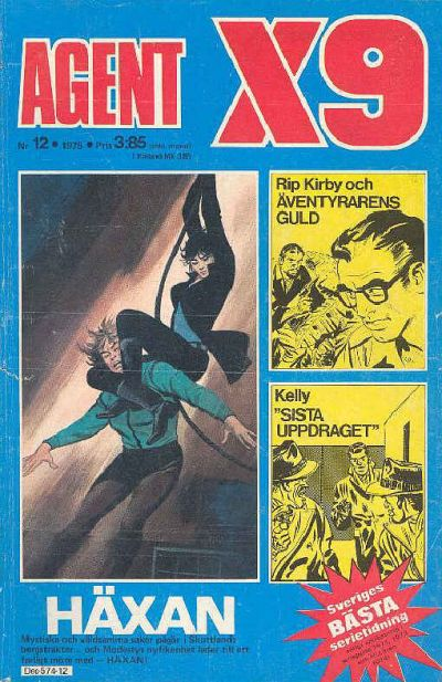 Cover for Agent X9 (Semic, 1971 series) #12/1975