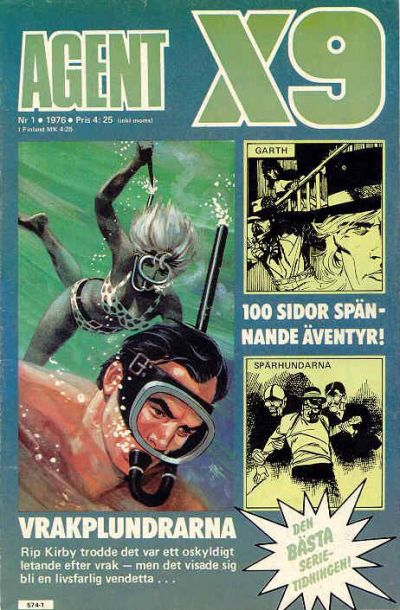 Cover for Agent X9 (Semic, 1971 series) #1/1976