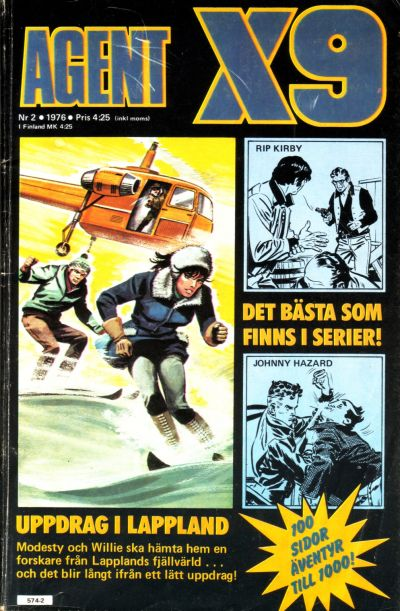 Cover for Agent X9 (Semic, 1971 series) #2/1976